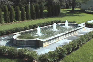 2.5hp fountain with cascade nozzles