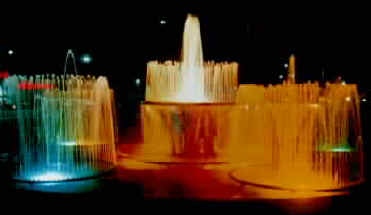 Musical fountain (choreographed dancing water and light)